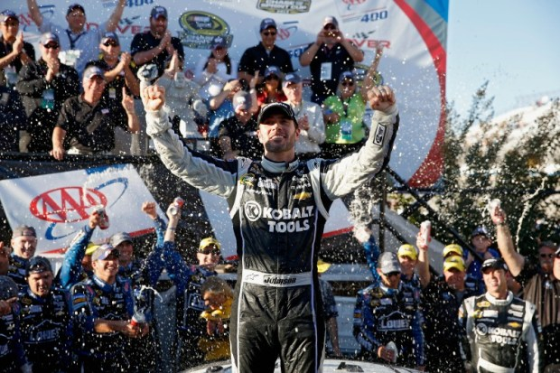 "He's back...Jimmie Johnson returned to victory lane, winning at the ""Monster Mile"" in Dover."