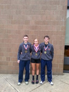 Clearfield Cross Country state qualifiers - Josiah McClarren, Paige Mikesell, Alex Coval