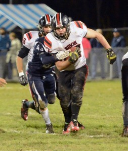 Senior tailback Corey Shimmel led the Bison ground game with 116 yards and a TD in the 56-17 win over PO