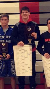 Sophomore Luke McGonigal won the 170 pound title