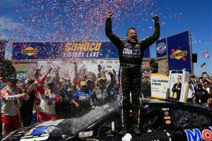It has been over three years, and 84 races (over an 111-race span), since Tony Stewart got to experience victory lane. Now, Smoke has risen.