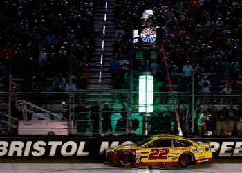 Make it a back-to-back run of wins in the night race for Joey Logano.