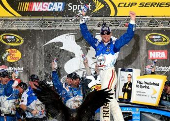 It took 24 hours to make it happen, but Kevin Harvick eventually did win at Bristol.