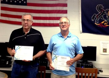 Shown are board members Dr. Michael Spencer and Tim Morgan. (Photo by GANT News Editor Jessica Shirey)
