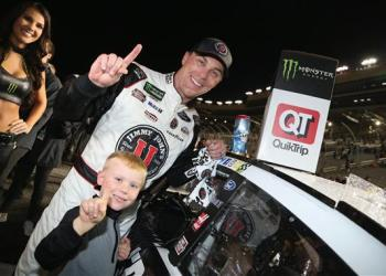It took 17 years before Kevin Harvick won again in Atlanta.  But after missing out on it the last four years, no one was taking it from him this time.