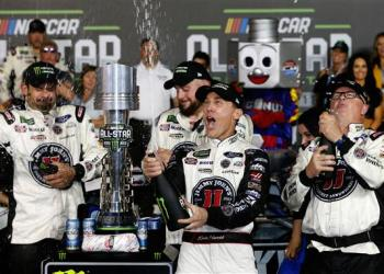The only thing familiar about the All-Star Race was the track, and the winner.  Everything else, completely different.