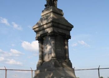John DuBois' monument and grave marker on Monument Hill at Penn State DuBois. (Provided photo)