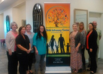 Pictured, from left to right, are:  Sue Ascione, Dana Dillon, Kelsey Vitullo, Crystal Vicklund, Alaina Shaffer, Makayla Brock, Margaret McCauliff and Jeff Peteuil. (Provided photo)