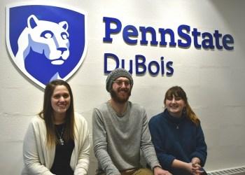 Left to right, Penn State DuBois THON Dancers for 2019, Jamie Turner, Tristen Bressler, and KJ Long. (Provided photo)