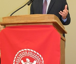 Dr. William Curley, keynote speaker during LHU Clearfield's 30th annual Founders' Day convocation awards celebration. (Provided photo)