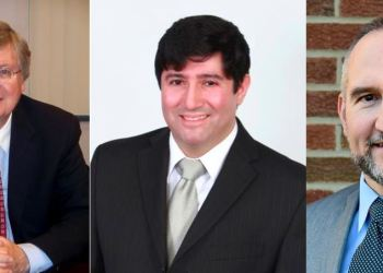Incumbents John A. Sobel and Tony Scotto, Republican running mates, were re-elected to another term as Clearfield County Commissioners. Democratic candidate Dave Glass claimed the third and final board seat. (Provided photos)