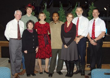 Pictured, in front, are: Edna Bloom and Maria Lang Garcia. In the back are: Rich Kenawell, Christopher Lang, Sheri Lang, Charlie Prescott, Stanley Lang and Bart Foradora. (Provided photo)