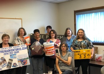 Pictured are some of this year's auction committee members. In the front row is Kristy Twoey; in the second row are Joan Bracco, Cathie Hugar, Michele Fannin, Ronda Vaughn, Melissa Bishop and Renee Bush; and in the back row is Julie Fenton. (Provided photo)