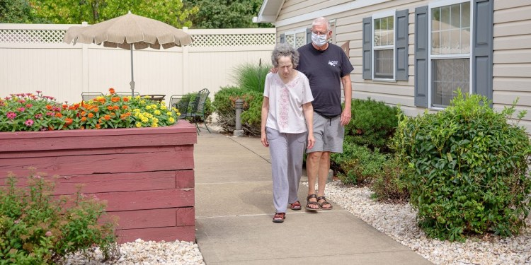 """Alice """"Candy"""" Loughney, 71, has Alzheimer's disease and moved into a long-term care facility in Monroeville after her symptoms became too much for her husband to manage.  Quinn Glabicki for Spotlight PA / PublicSource"""