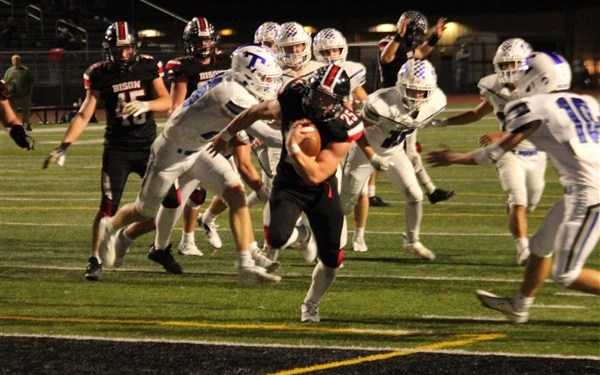 Mark McGonigal eclipsed the 1000-yard mark for his career against Trinity.