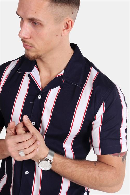 White / Navy Cuba  Kronstadt  Skjorter