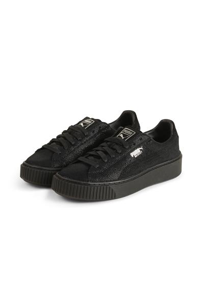Køb Puma Sneakers Suede Platform Mono Satin Silver