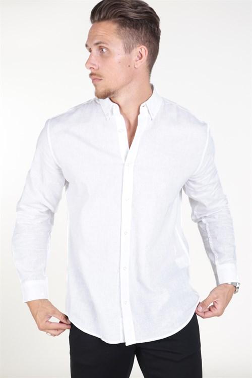 Clean Cut Oxford Plain Skjorte Black