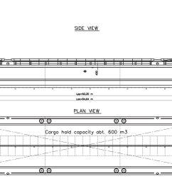 split hopper barge 600m3 nj r gdv 0884 03 ltal nos elr elrendez s1 1 1 [ 2500 x 1198 Pixel ]