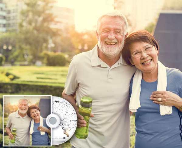 Gesundes altes Paar