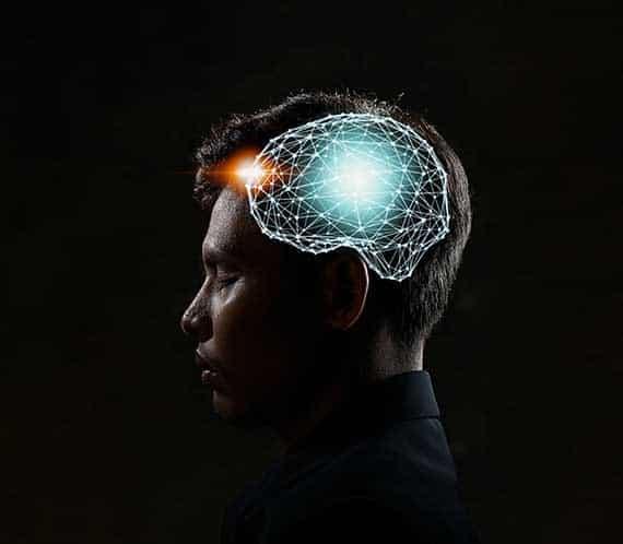 Brain von Jungen Mann