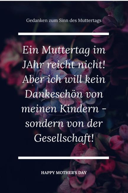 Zum Muttertag wünsche ich mir keine Rosen, sondern mehr Danke und Achtung von der Gesellschaft. Und eine kinderfreundliche Gesellschaft. Familien sollten mehr anerkannt werden.