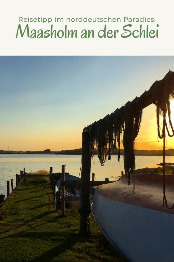 Reisen an die Schlei: Maasholm in Schleswig-Holstein an der Mündung zur Ostsee gelegen. Tipps für den Familienurlaub und Ausflüge an die Schlei