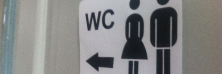 WC, öffentliche Toilette, Kind muss mal