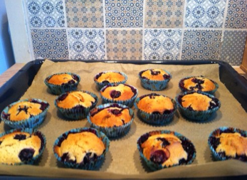 Blaubeermuffins, Beerenmuffins