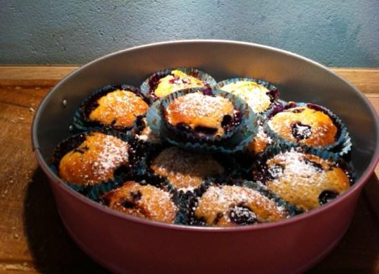Blaubeermuffins, schwedische Muffins, Beerenmuffins
