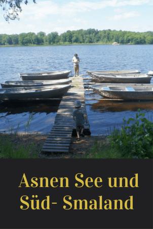 Reisetipp für das südliche Schweden: Der Süden von Smaland ist einfach wunderschön, insbesondere der Asnen See, an dem man nicht nur toll Kanu fahren kann. Ein Tipp für den Familienurlaub mit Kindern.