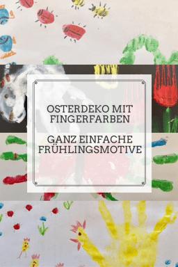 Mit Fingerfarben kann man ganz einfach Frühlingsbilder für Ostern malen. #diy #kreativ