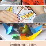 Was tun mit all den Kinderkunstwerken? Meine Kinder malen viel - sehr viel. Ihre Kreativtät ist unermesslich. Doch was tun mit all den Bildern?