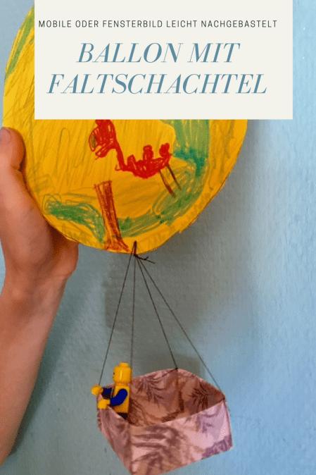 Basteln Mit Kindern Fesselballon Als Mobile Mit Einfacher Origami