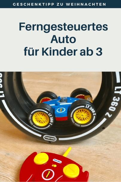 Geschenktipp zu Weihnachten oder Geburtstag für Kinder ab 3 Jahren: ein ferngesteuertes Auto, extra für kleine Kinder entwickelt. #weihnachten #spielzeug