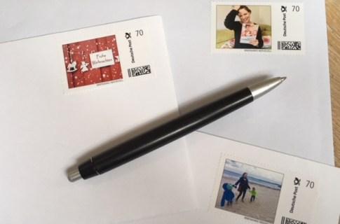 Briefmarke individuell der Deutschen Post: Briefmarken selbst gestalten zum Beispiel für die Weihnachtspost, Hochzeiten oder Geburtstage