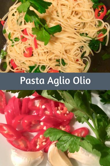 Rezept für Pasta AglioOlio mit Petersilie und Chili: sschnelles Pastarezept schmeckt mit Nudeln oder Spaghetti #rezept #pasta #kochen