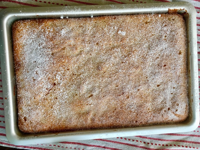 Blechkuchen mit Grieß