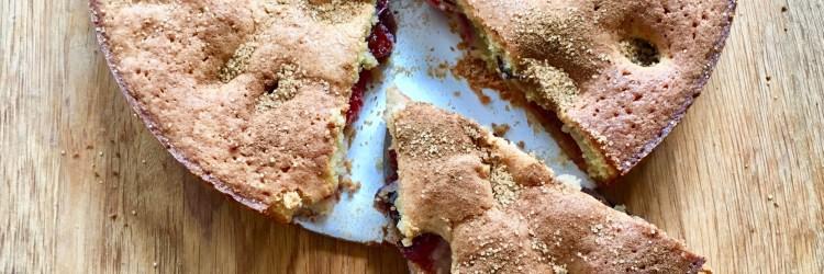 Rezept für schwedischen Pflaumenkuchen mit mandeln