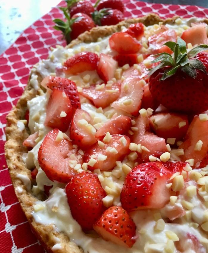 Rezept für schwedischen Erdbeerkuchen mlt mascarpoe