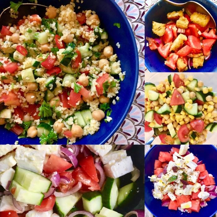 Fünf leichte sommersalate schnelle Rezepte zum grillen aufs Buffet oder als Hauptgericht