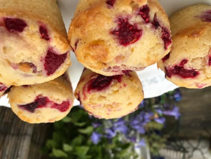 Rezept für Muffins mit Himbeeren und weißer Scjokolade