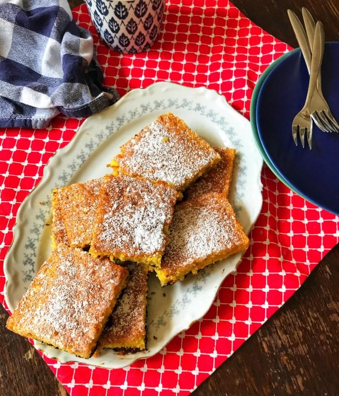 Schneller Blechkuchen ohne Butter für Kindergeburtstag oder Kuchenbuffet