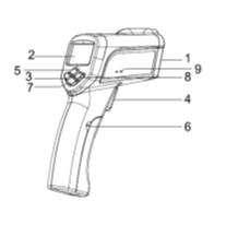 Non- Contact Infrared Thermometer (High Temp)