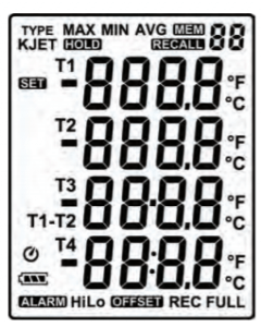 Thermocouple Thermometer with Four Inputs (Data Logger)