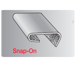 Serrated snap-on eal
