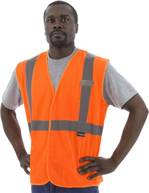 Orange High Visibility Safety Vest