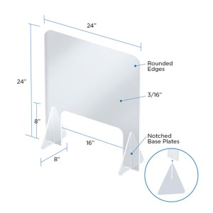 "Safety Shield 24"" x 24"" specs"