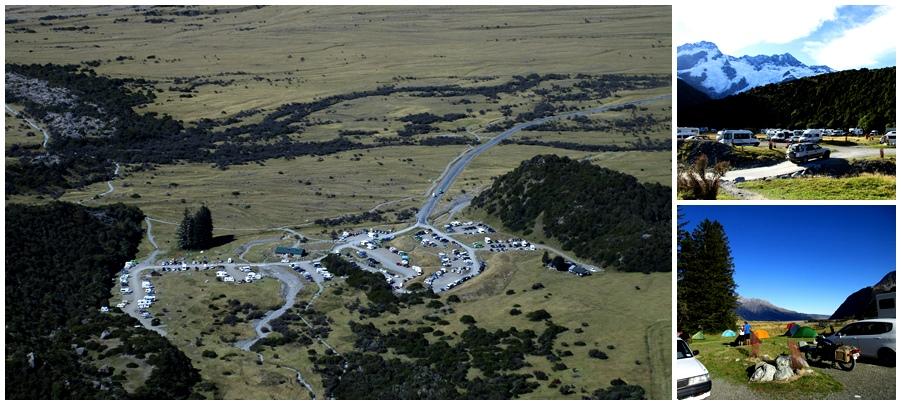 Widoki na camping; z góry i z dołu :)
