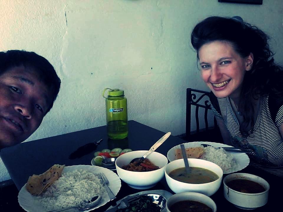 Obiad w Nepalu